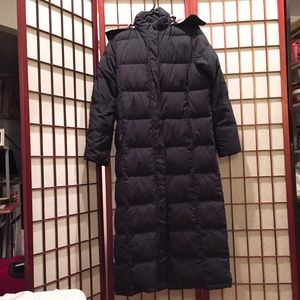L.L.Bean long down coat size xs